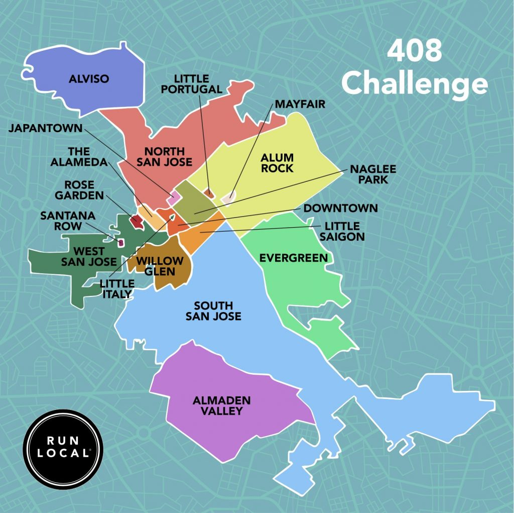 the 408km challenge map